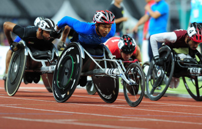 Para Athletics from Thailand in action during in Asian Para Games 2018 at JAKARTA