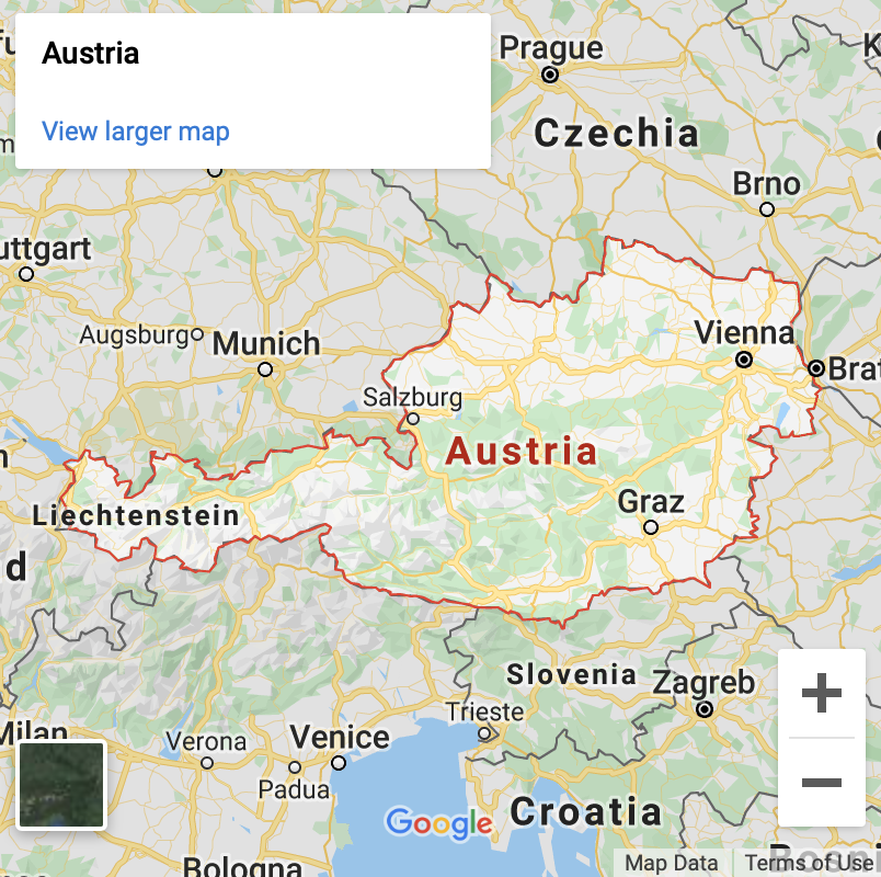 Austria Google Map