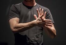 Sign language man interpreter