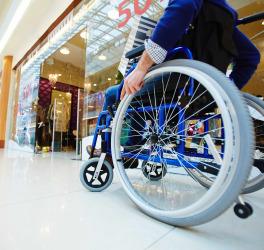 shopper in Wheelchair