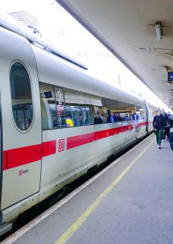 DB Bahn train at Brussels train station