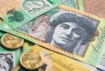 Australian currency money on the table