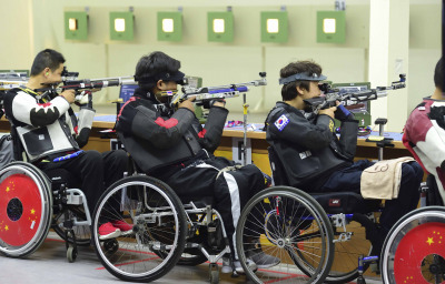 Paralympic shooting competition