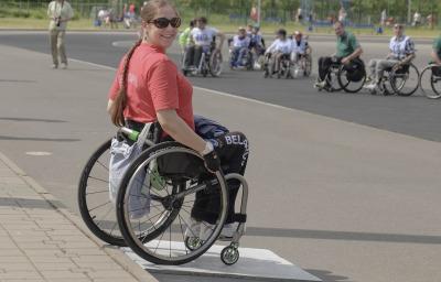 woman in wheelchair
