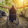 a man in wheelchair outdoor