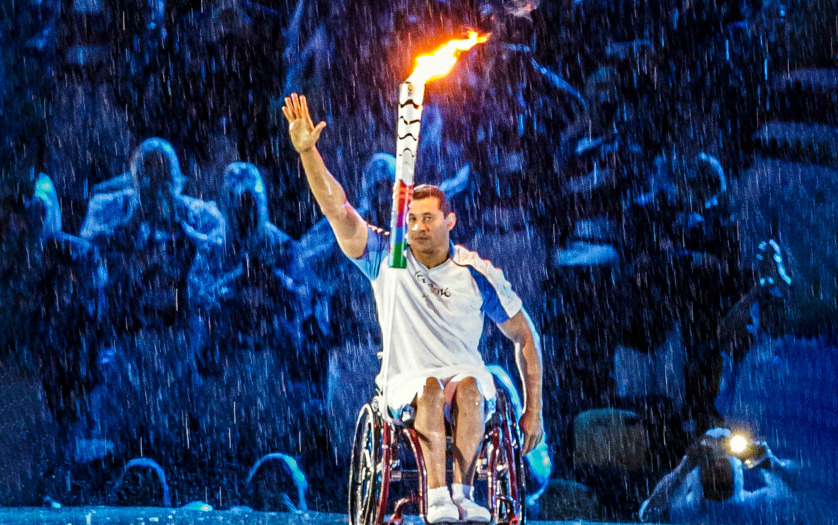 Paralympic game 2016 the maracanà - opening ceremony torchbearer