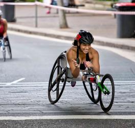 Paralympian Madison de Rozario smiling