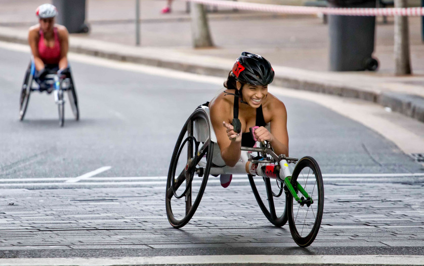 Paralympian Madison de Rozario smiling