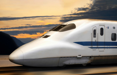 Shinkansen Bullet Train in Japan