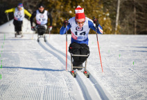 Ethan Hess, Canada, sprints to the finish in the 2016 Paralympic Continental Cup