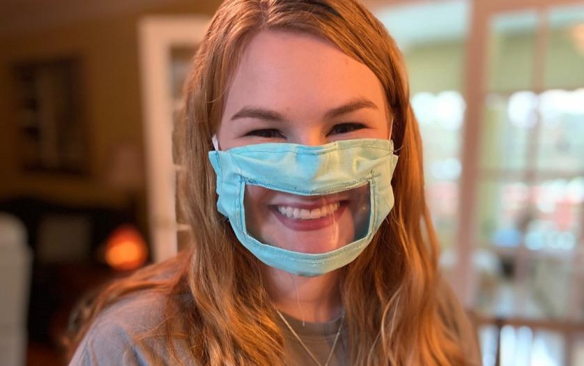 Ashley Lawrence wearing a mask