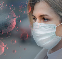 woman wearing a mask to protect from the coronavirus