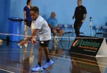 David Joe Kaniku won silver in the men's short stature singles just nine months after taking up badminton
