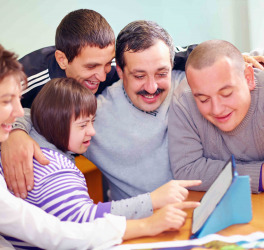 people with disability using tablet