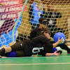 Athlete with vision disabilities in action during Goalball in Asian Para Games
