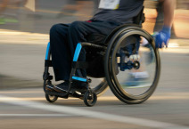 wheelchair user - motion blur