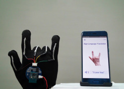 ASL sensor glove with smartphone