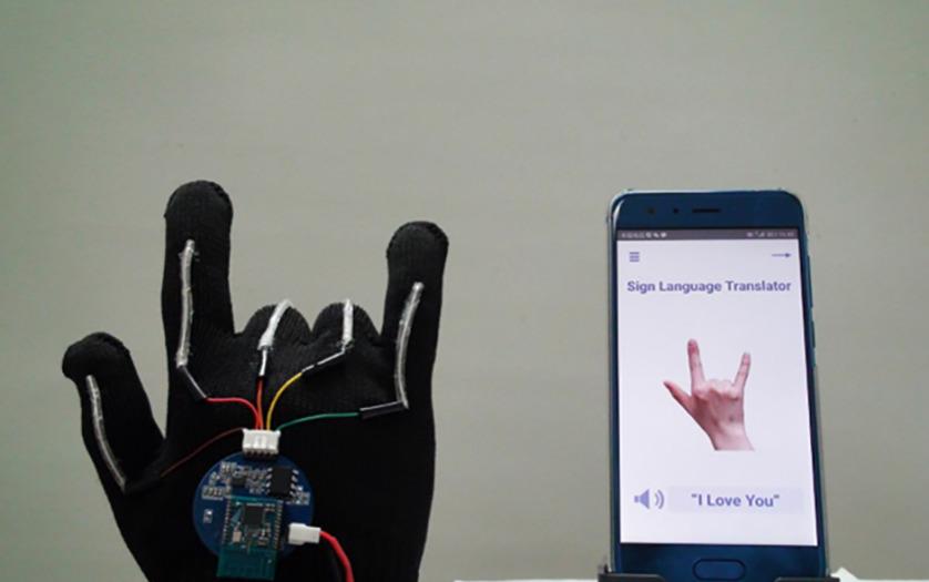 ASL sensor glove with smartphone