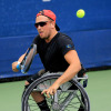 Dylan Alcott playing tennis