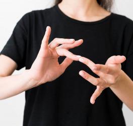 sign language interpreter signing