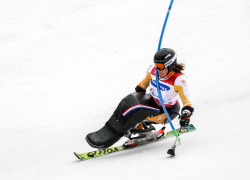 Women`s Slalom. Winter paralympic games.