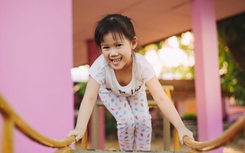 girls with neurodevelopmental disability playing