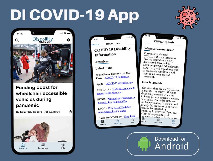 Android COVID-19 App Screenshots