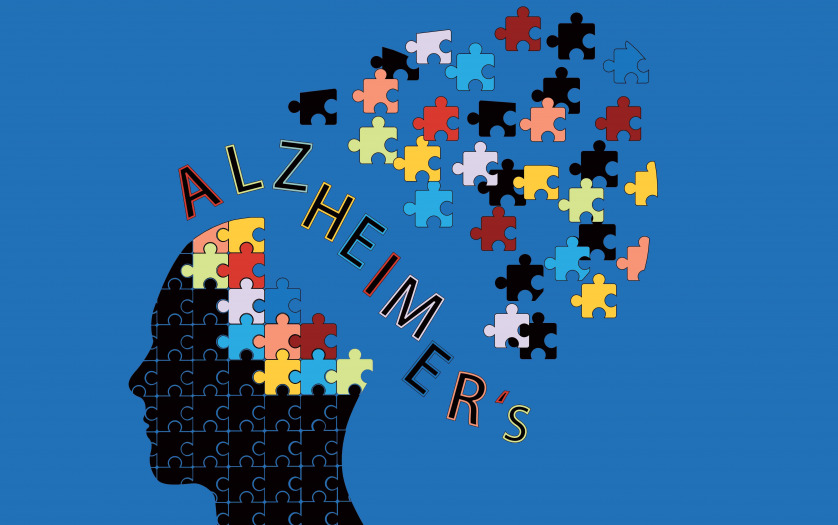 Puzzle head Alzheimers disease concept vector illustration