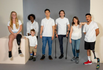 group photo of people with adaptive shoes