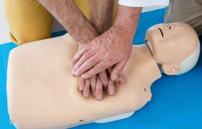 Paramedics training cardiopulmonary resuscitation