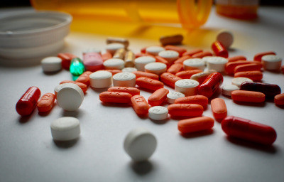close up of colorful medicines
