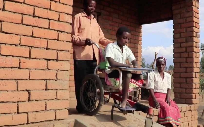 Talandira Kogoya in wheelchair