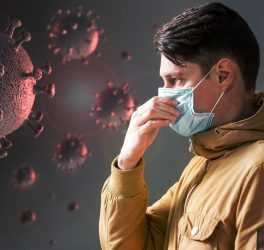 Man protecting from the coronavirus – concept