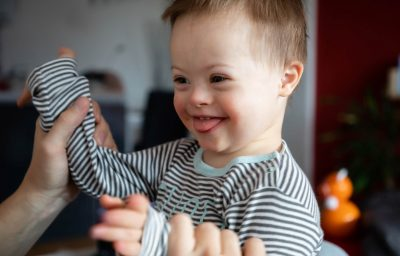 Small boy with Down syndrome