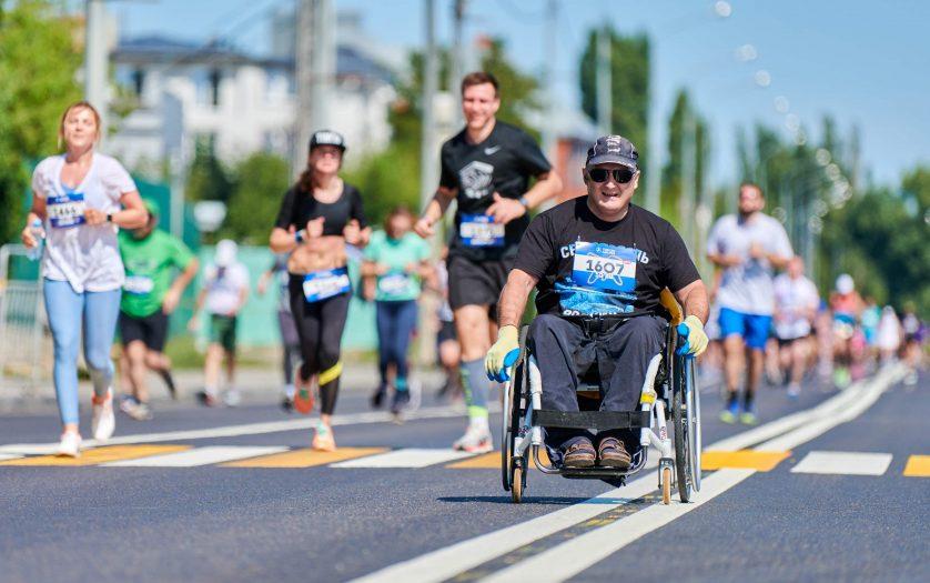 racer in wheelchair, marathon