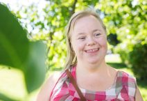 Portrait of woman with down syndrome