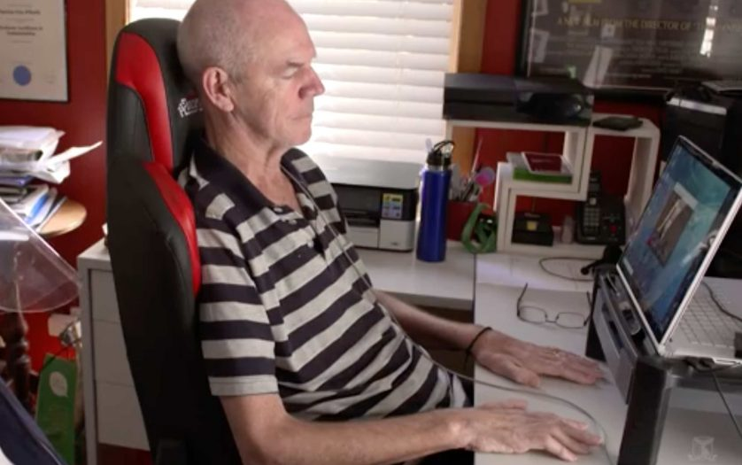person using the computer