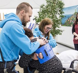exoskeleton vest was used to assist a patient