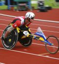 Para Athletic in action during wheelchair race