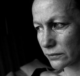 Image of a woman in tears, conceptual domestic violence