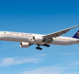 Saudi Arabian Airlines Boeing 777 airplane
