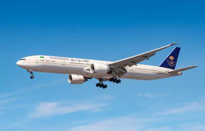 Saudi Arabian Airlines Boeing 777 airplane