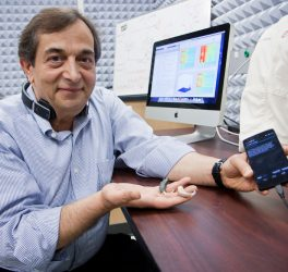 Dr. Issa Panahi with smartphone