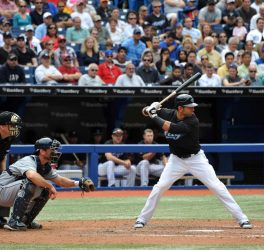 Jose Bautista at bat against Tampa Bay Rays