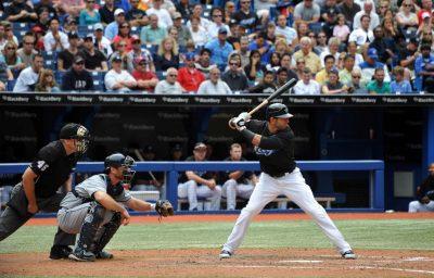 Jose Bautista at bat against Tampa Bay Rays