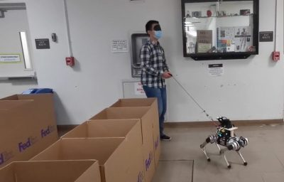 Robot guide dog testing