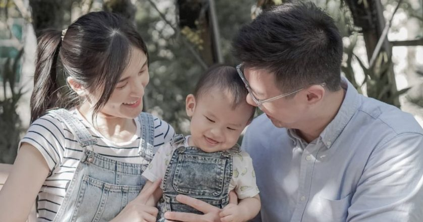 Eric and Wei Shi with Elliot
