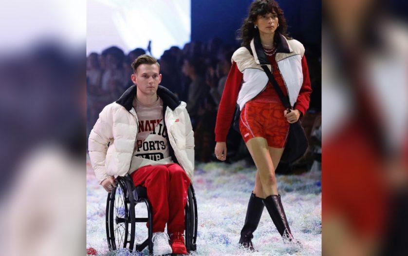 model Rheed McCracken at Australian Fashion Week