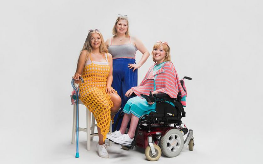 Left to right: Lucy Dawson, Gemma Tyte, Emma Lines modelling some of Gemma's inclusive fashion range