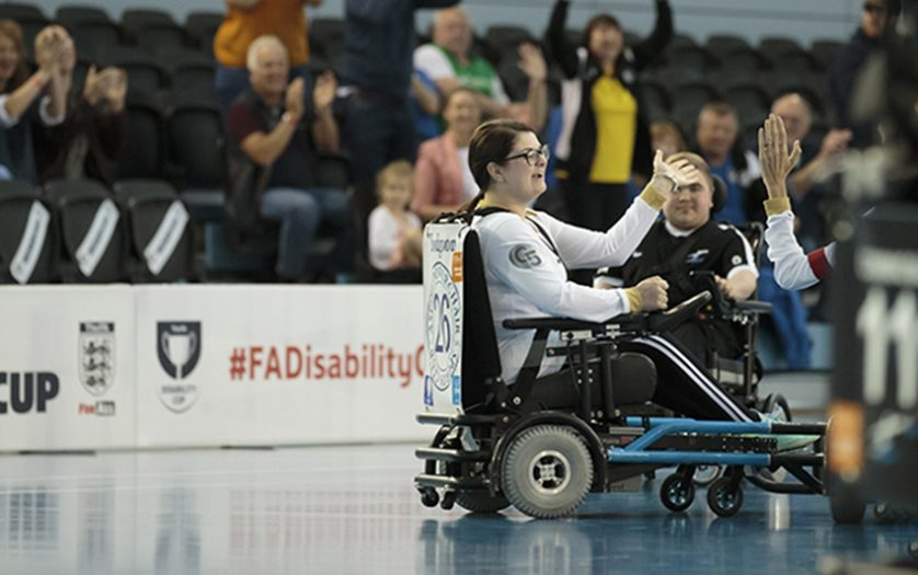 The FA Disability Cup celebration